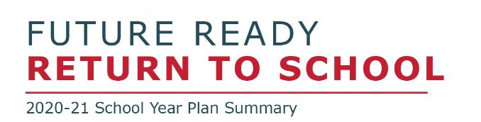 WPS Future Ready Return To School 2020-21 School Year Plan Summary